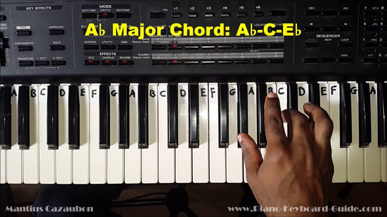 D Flat Major Chord Piano How to Play the A Flat...