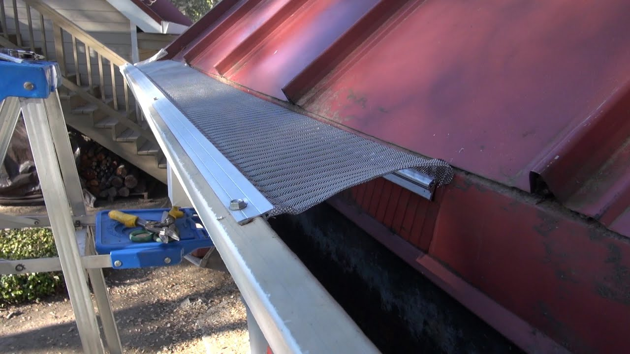 Easyon Gutterguard Installing On Standing Lock Metal Seam