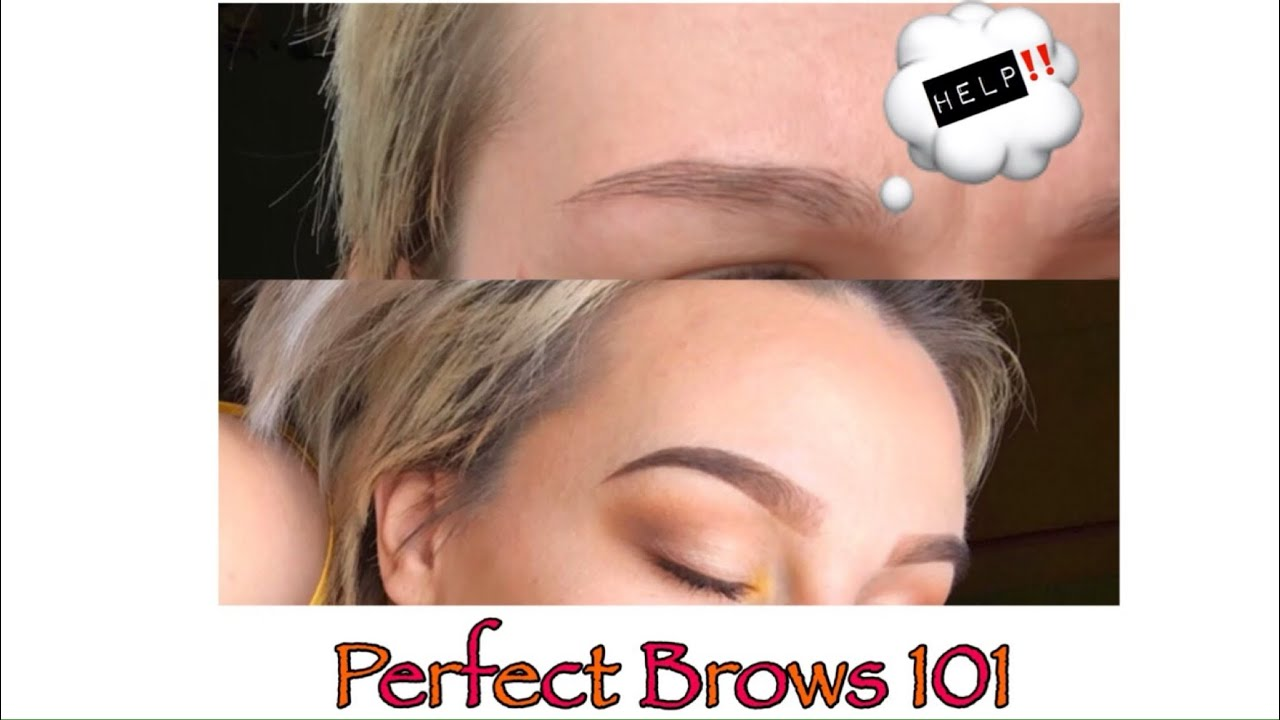 HOW TO- GET PERFECT EYEBROWS| (STEP BY STEP) FUNNY ...