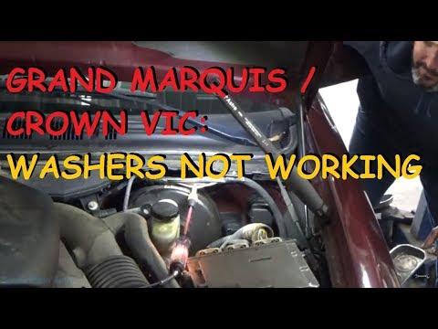 Grand Marquis / Crown Victoria - Window Washer Pump Does Not Work