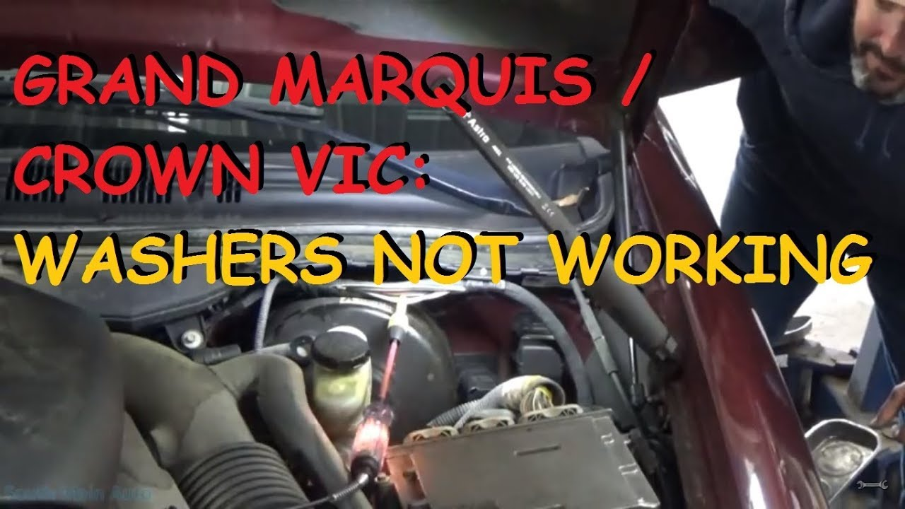 hight resolution of grand marquis crown victoria window washer pump does not work