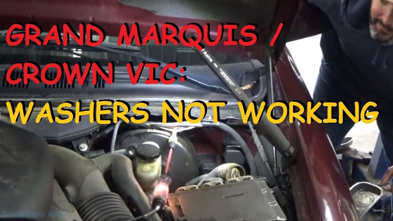 medium resolution of grand marquis crown victoria window washer pump does not work