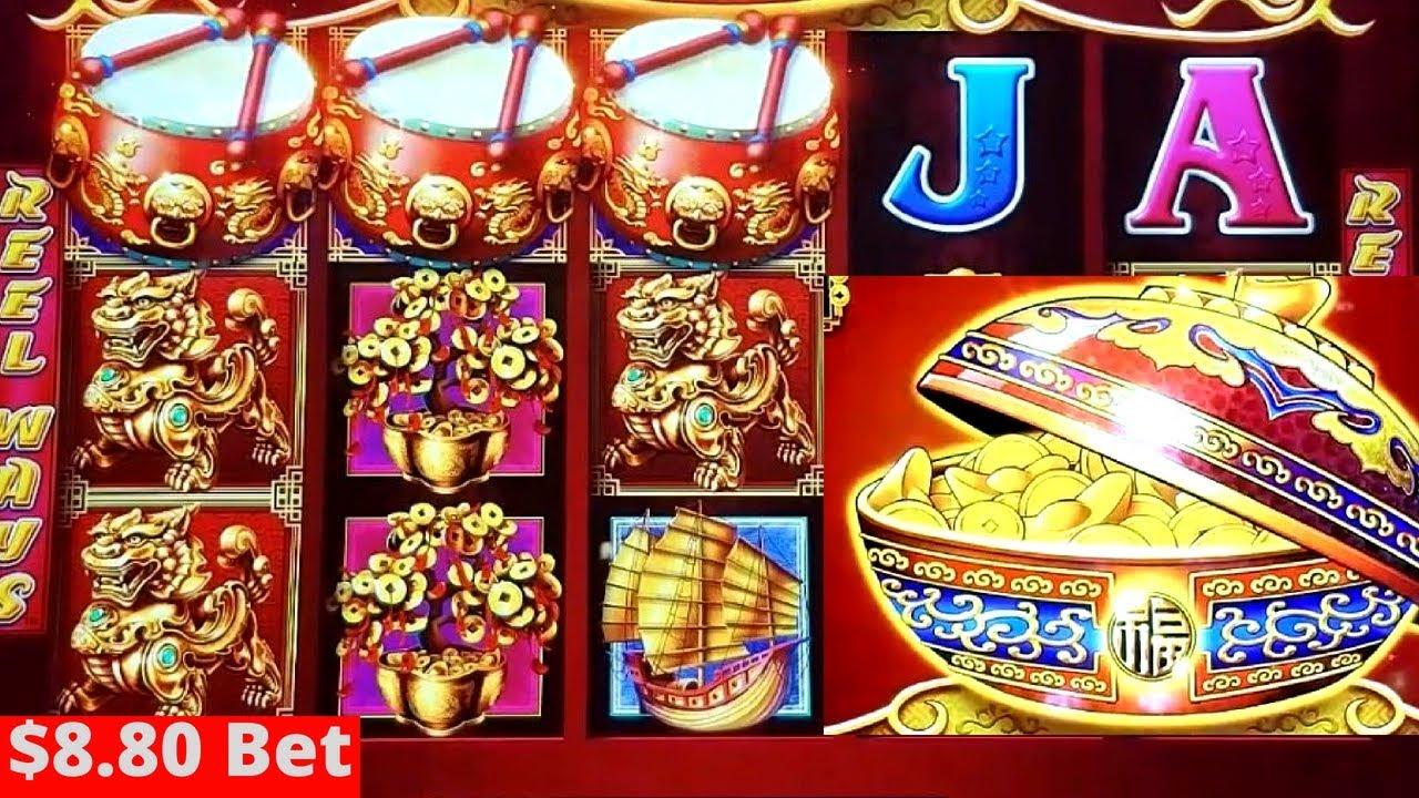 Dancing Drums Slot Machine 8 80 Max Bet Bonus Won Nice