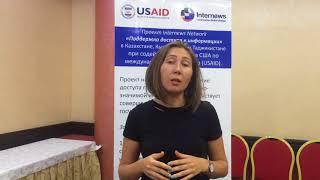 """Тренинг для журналистов """"Дата-проекты"""": отзыв Джамили Маричевой"""