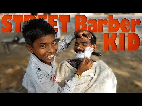 ASMR Street Kid Barber Shaving | Travel Series 2018 Video 18