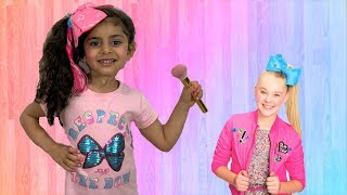 Sally Dress up and put Makeup JoJo Siwa for a birthday party!