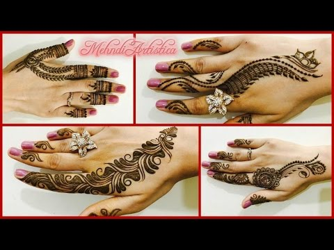 Mehndi Party Saree : Easy beautiful mehndi designs for quick henna partylatest