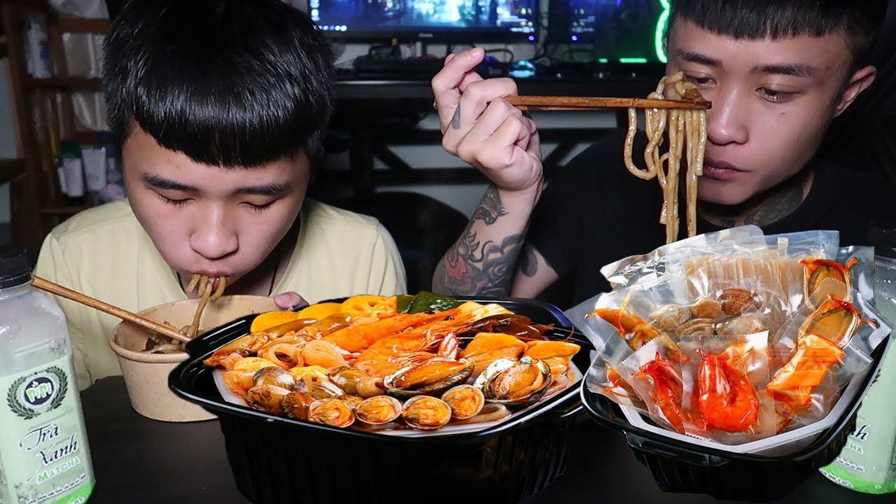 Gấu Vlogs - Thích Ăn Khuya, Lẩu Bào Ngư Tự Sôi, Mì Tuong Đen Chuẩn Vị Hàn Quốc