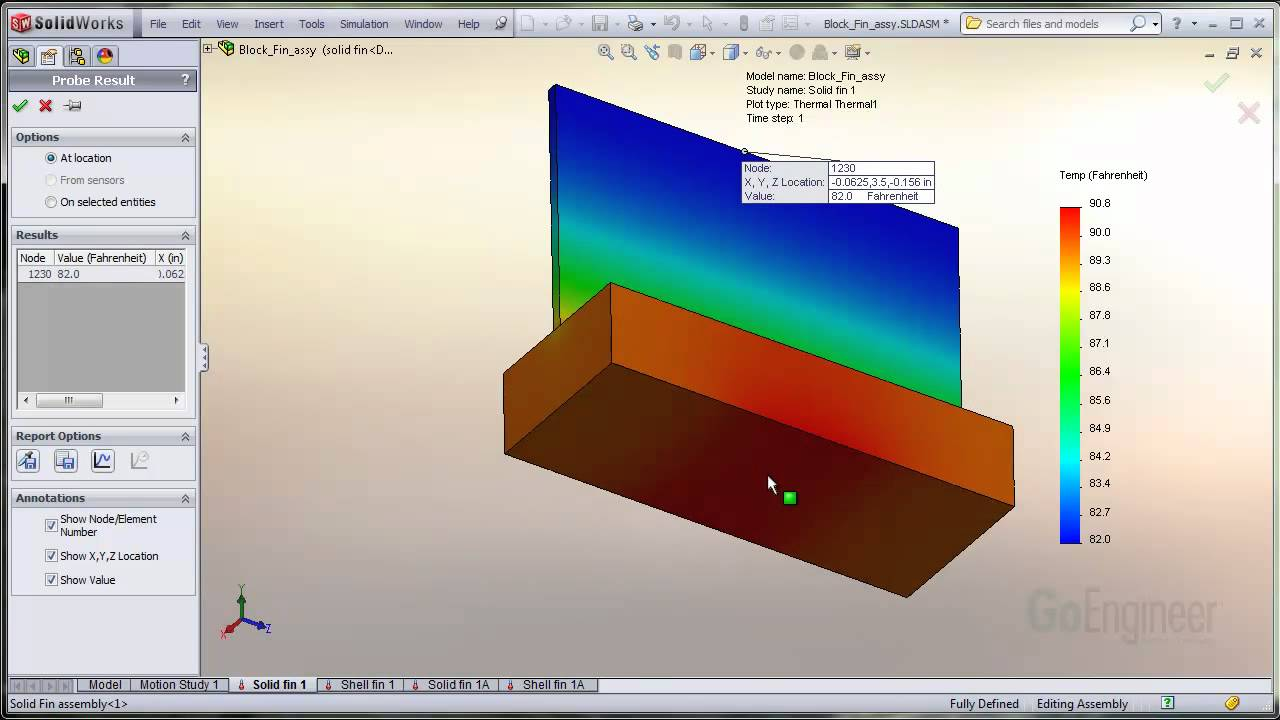 Solidworks simulation shell elements for heat transfer youtube baditri Images