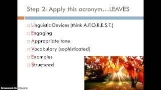AQA GCSE English Language revision: Section B question 5