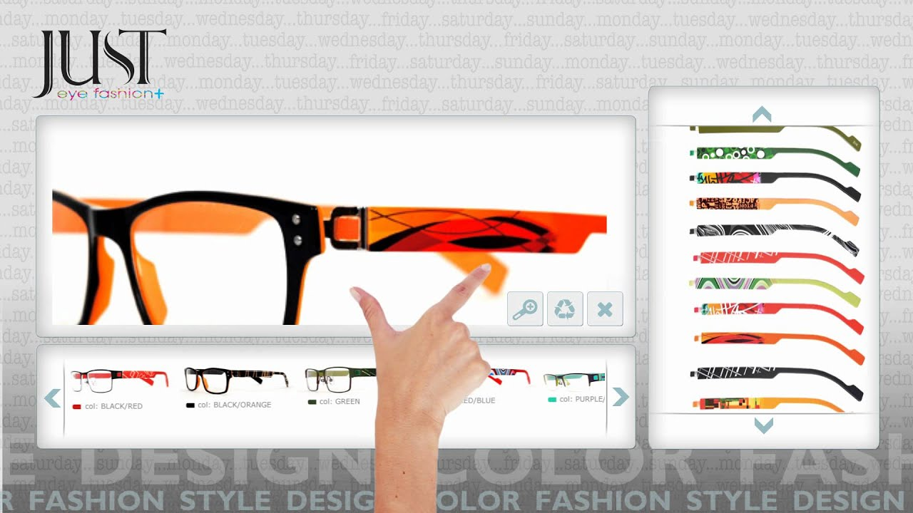 glasses just for fashion  Just eye fashion- color your day - YouTube
