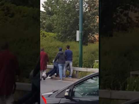 A guy beaten by Ilford gang on Ilford Lane