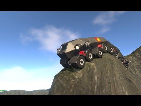 Mechipede Mk1 Articulated 32 Wheeler Offroad Truck (Homebrew - Patent Unknown Vehicle Sandbox Game)  