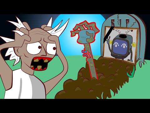 ЗОМБИ - робот VS  ГРЕННИ | Грениматроник ожил и вылез из земли (анимация)