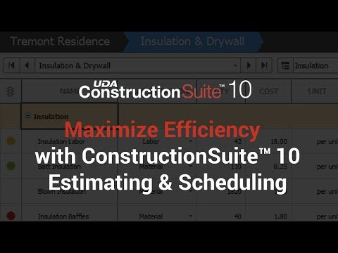Maximize Efficiency With ConstructionSuite 10 Estimating & Scheduling