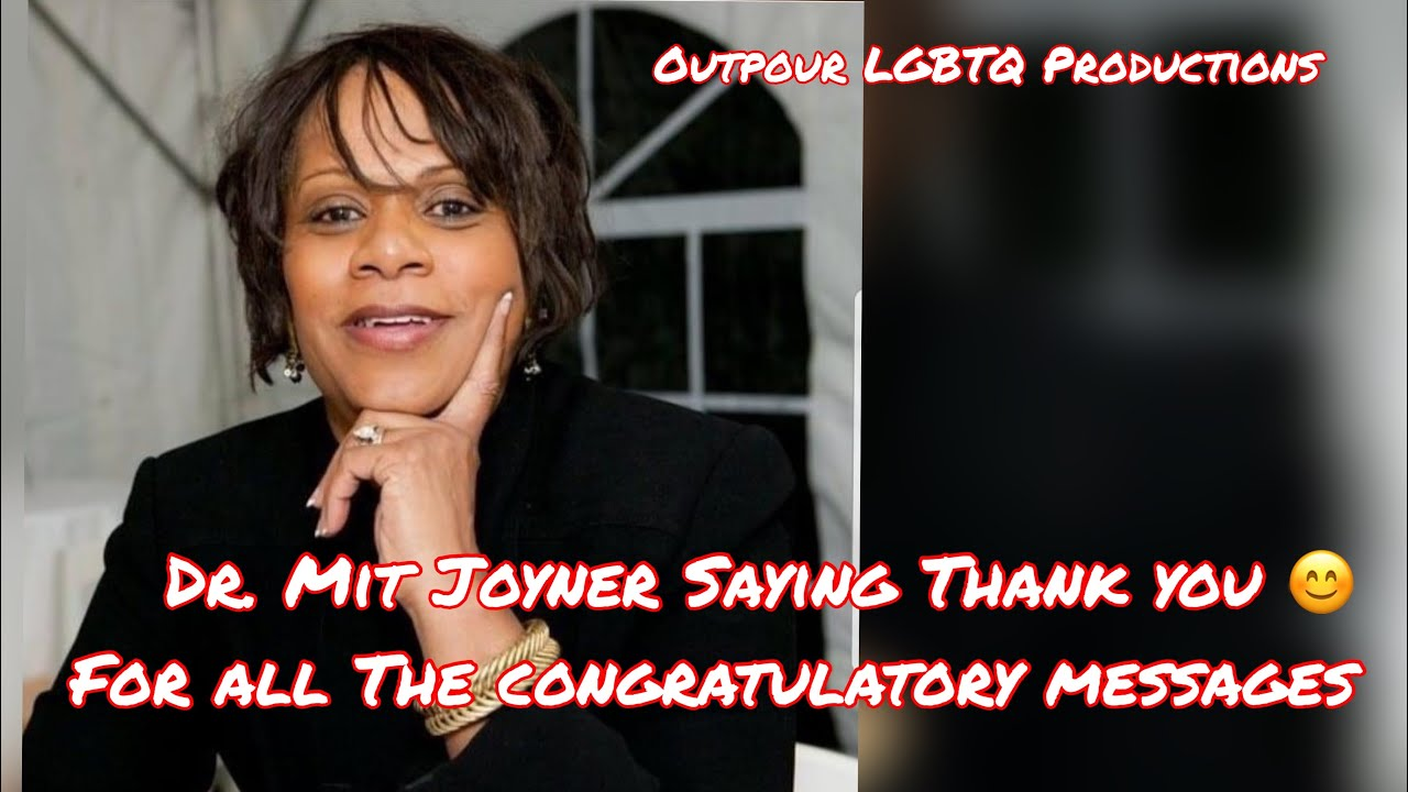 Dr. Mit Joyner saying thank you for all the Congratulatory messages