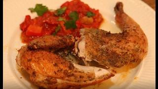 Юлия Высоцкая — Цыпленок с соусом из помидоров и перца