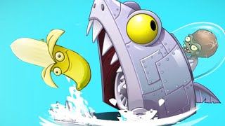Plants vs. Zombies 2 - Big Wave Beach Part 2 Zomboss Shark + Banana Plant! Trailer