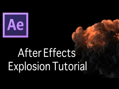 After Effects Explosion/Tracking Tutorial with Pre Keyed Explosion Footage!!
