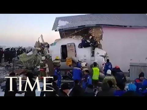Fifteen Killed And Scores Hurt After A Plane Crash In Kazakhstan | TIME