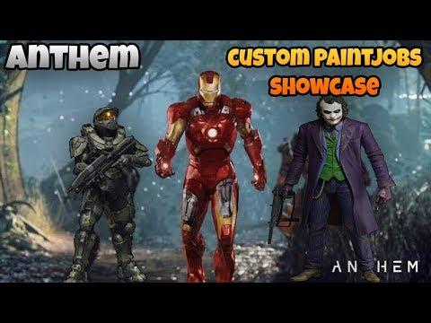 Anthem My Custom Paintjob Showcase! Iron Man, Master Chief, The Joker