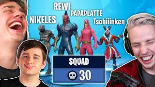 With WORLDCUP SPIELER Tschiiinken & PAPAPLATTE completely FORTNITE taken apart!