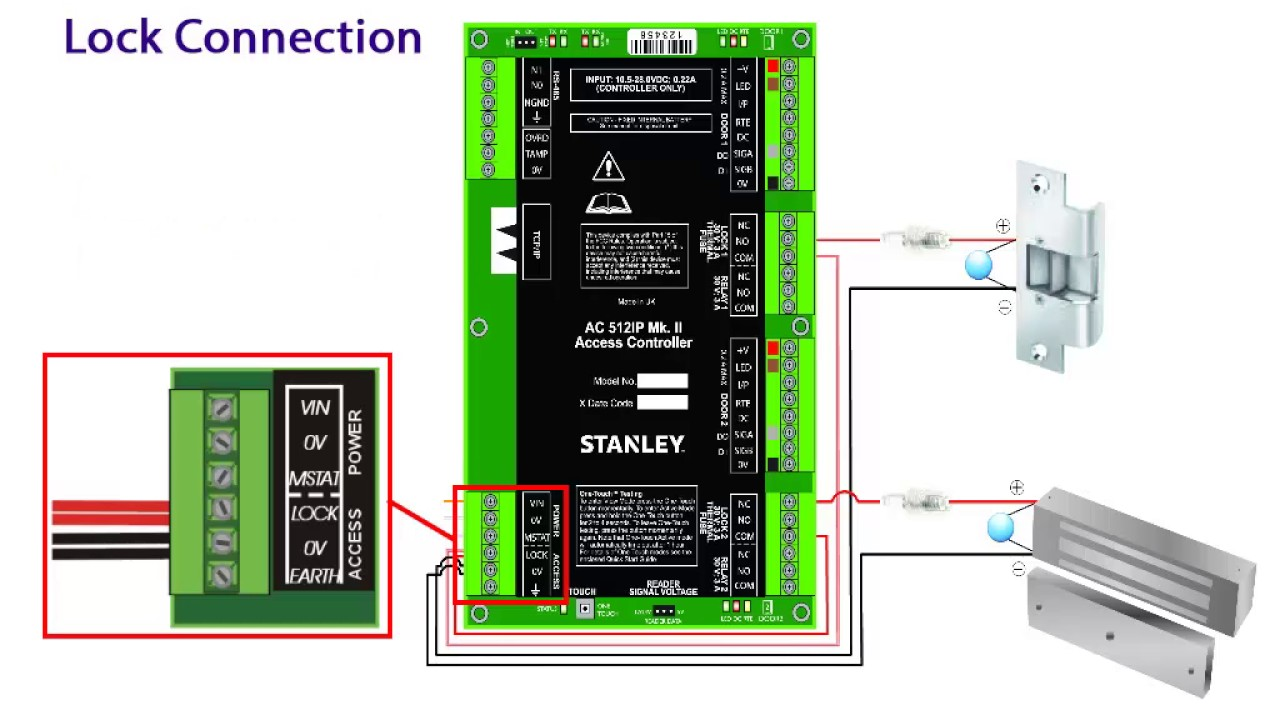 stanley ac512 controller connection [ 1280 x 720 Pixel ]