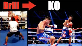 Manny Pacquiao | Genius Drills That Became KO's - Breakdown