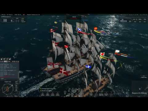 Naval Action] British Fleet vs Denmark Fleet front Port Morant | Oct 16, 2016
