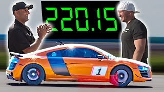 Audi R8 + 2200 Horsepower = 220 MPH!?