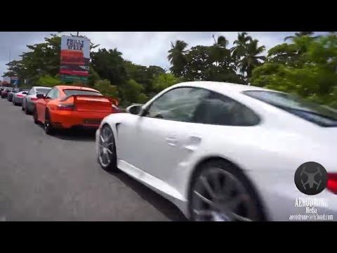 Porsche Club Driving in Dominican Republic. Santo Domingo nightlife cars city living