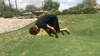 Video How to do a front flip for beginners flat ground download MP3, 3GP, MP4, WEBM, AVI, FLV September 2018
