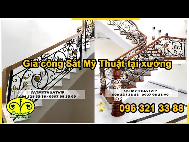 Thi công cầu thang sắt nghệ thuật đẹp