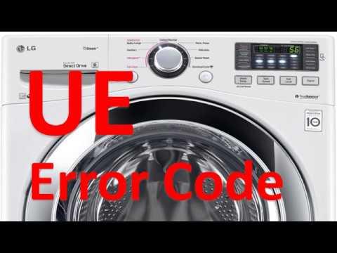 UE Error Code SOLVED!!! LG Front Loading Washer Washing Machine