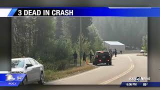 3 dead, 2 injured in rollover crash north of Cusick