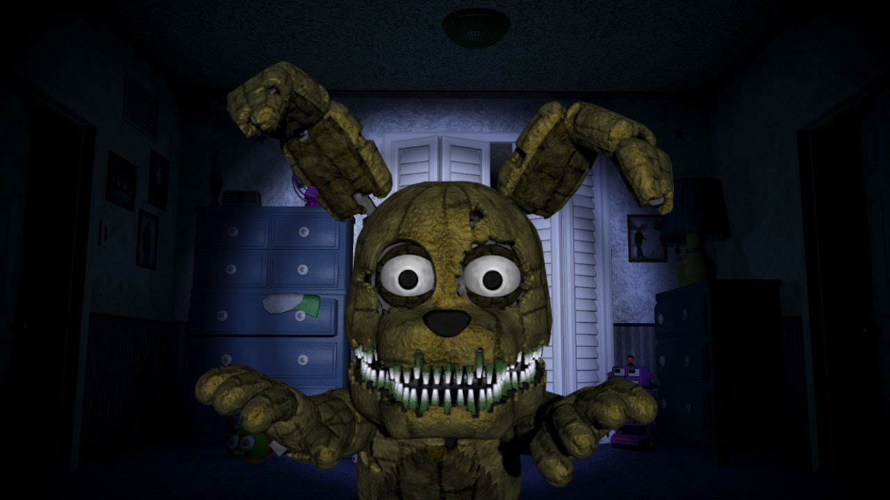 plushtrap camera bedroom jumpscare fnaf 4 youtube