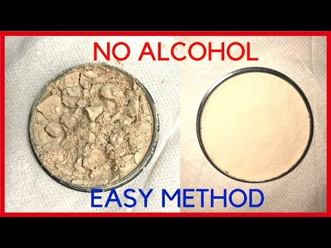 DIY | HOW TO FIX BROKEN COMPACT POWDER/MAKEUP WITHOUT ALCOHOL