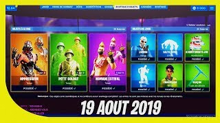 "FORTNITE BOUTIQUE of August 19, 2019! Return of the skins ""Toy Story"""