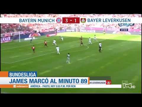 Gol de James Rodríguez Bayern Múnich 3-1 Bayer Leverkusen