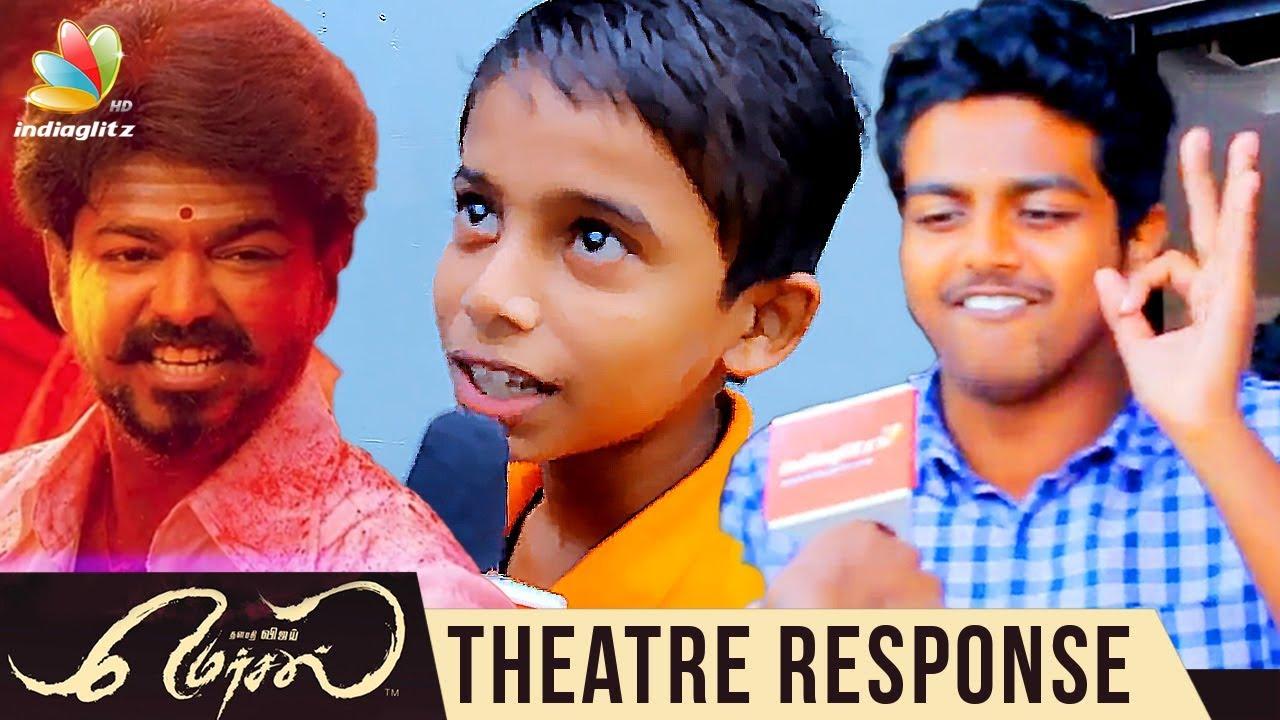 Mersal Movie Theatre Response | Thalapathy Vijay, Samantha, Kajal Agarwal | Vijay Fans Celebration