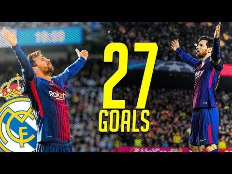 Lionel Messi ● All 27 Goals VS Real Madrid | EL Clasico Record | HD
