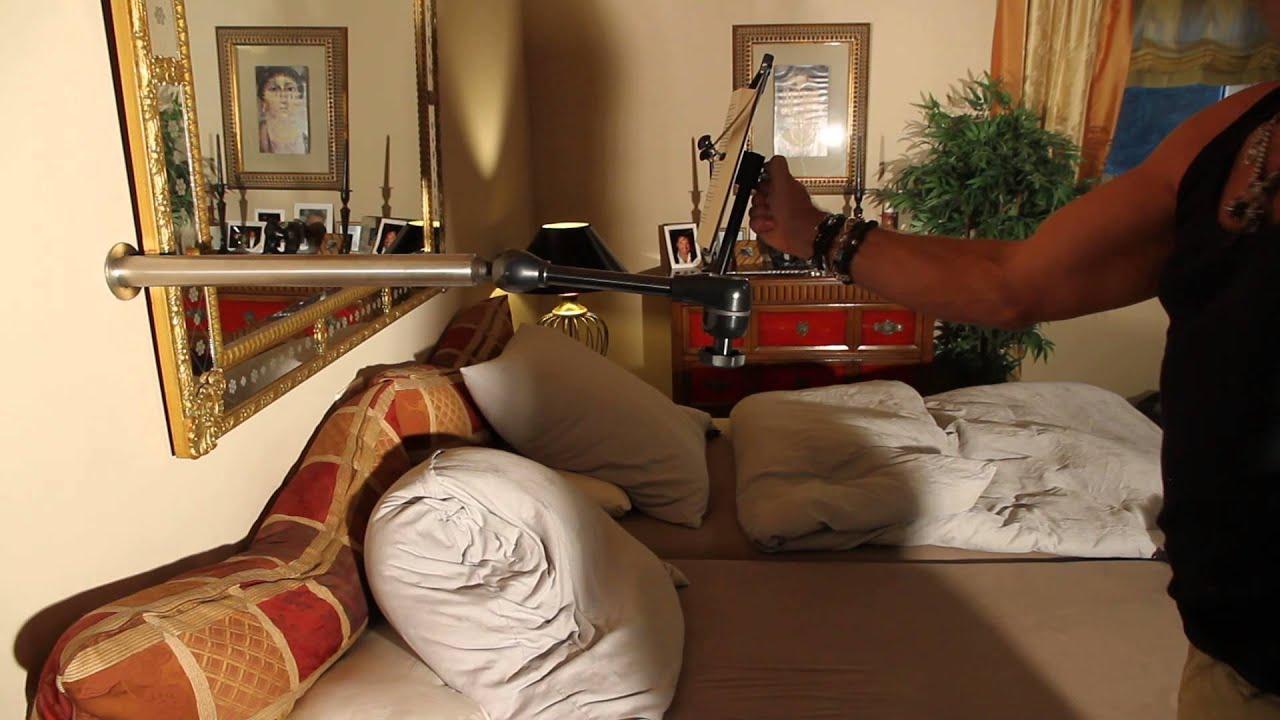 buch und tablet halterung f r die wand erkl rungsvideo. Black Bedroom Furniture Sets. Home Design Ideas