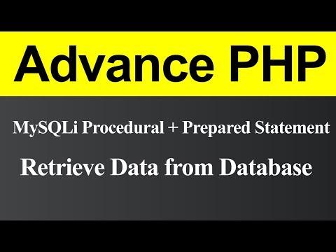 Retrieve Data From Database Using MySQLi Procedural With Prepared Statement In PHP (Hindi)