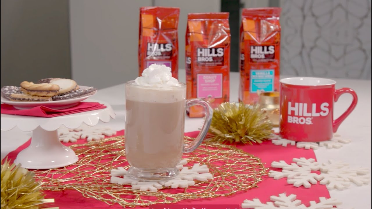 Making a Gingerbread Latte with Hills Bros. Coffee