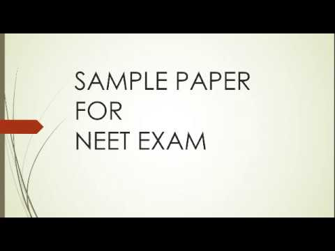 Sample Paper For Neet Exam  Youtube