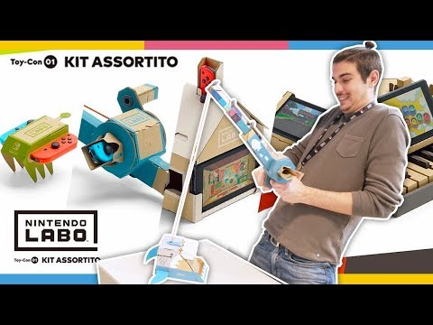 Nintendo Labo: SEMPLICE CARTONE? Costruiamo il Pianoforte! Kit Assortito Toy-con 01 w/ Michelle