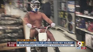 Brothers arrested for scantily-clad joyride through Walmart