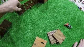Солдатики игрушки играть с детьми игра как мультики лего роботы война про солдатиков Форт Техас 147