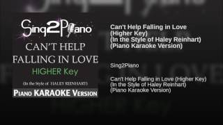 Can 39 t Help Falling in Love Higher Key