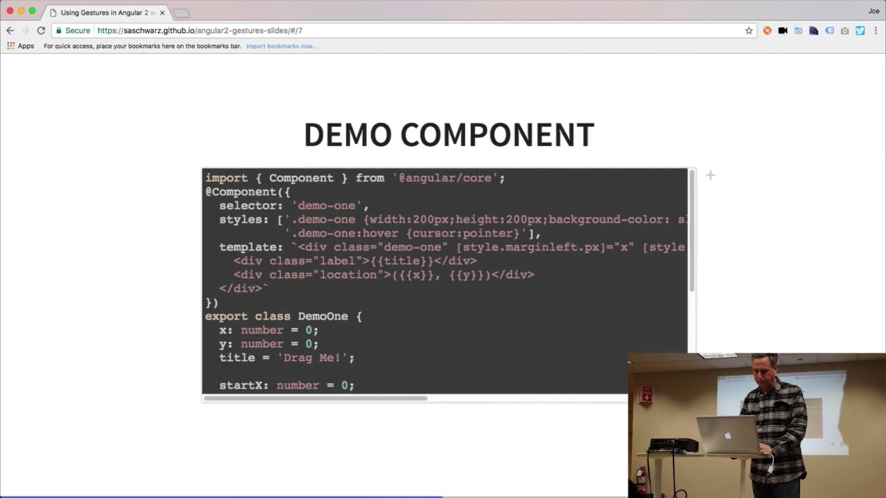 2 background images in one div - Using Gestures In Angular 2 Typescript By Steve Schwarz